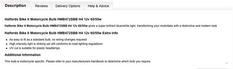 High Output H4 bulbs Bulb10