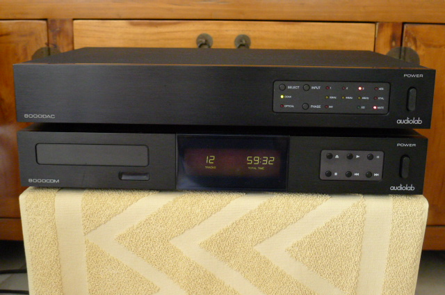 Audiolab 8000CDM CD Transport and Audiolab 8000DAC D/A Converter (Used) SOLD P1130420