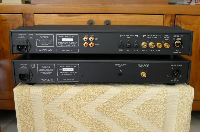 Audiolab 8000CDM CD Transport and Audiolab 8000DAC D/A Converter (Used) SOLD P1130422