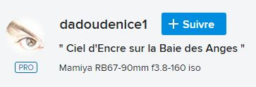 """"""" Ciel d'Encre sur la Baie des Anges """"   -Mamiya RB67 - Dadoun10"""