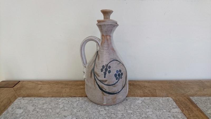 Pottery Carafe or Jug - Impressed mark - pinched handle.  Dsc_0013