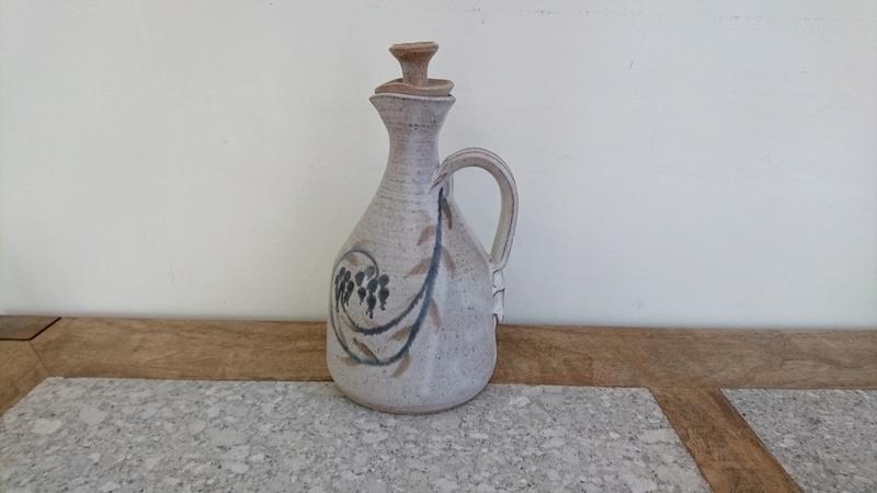 Pottery Carafe or Jug - Impressed mark - pinched handle.  Dsc_0014