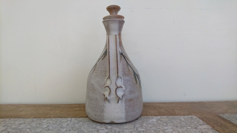 Pottery Carafe or Jug - Impressed mark - pinched handle.  Dsc_0015