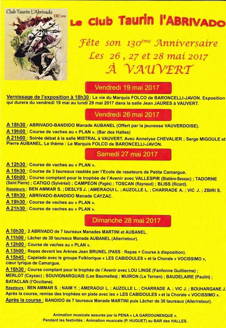 Programme du 130ème anniversaire du CT l'Abrivado de Vauvert Progra10