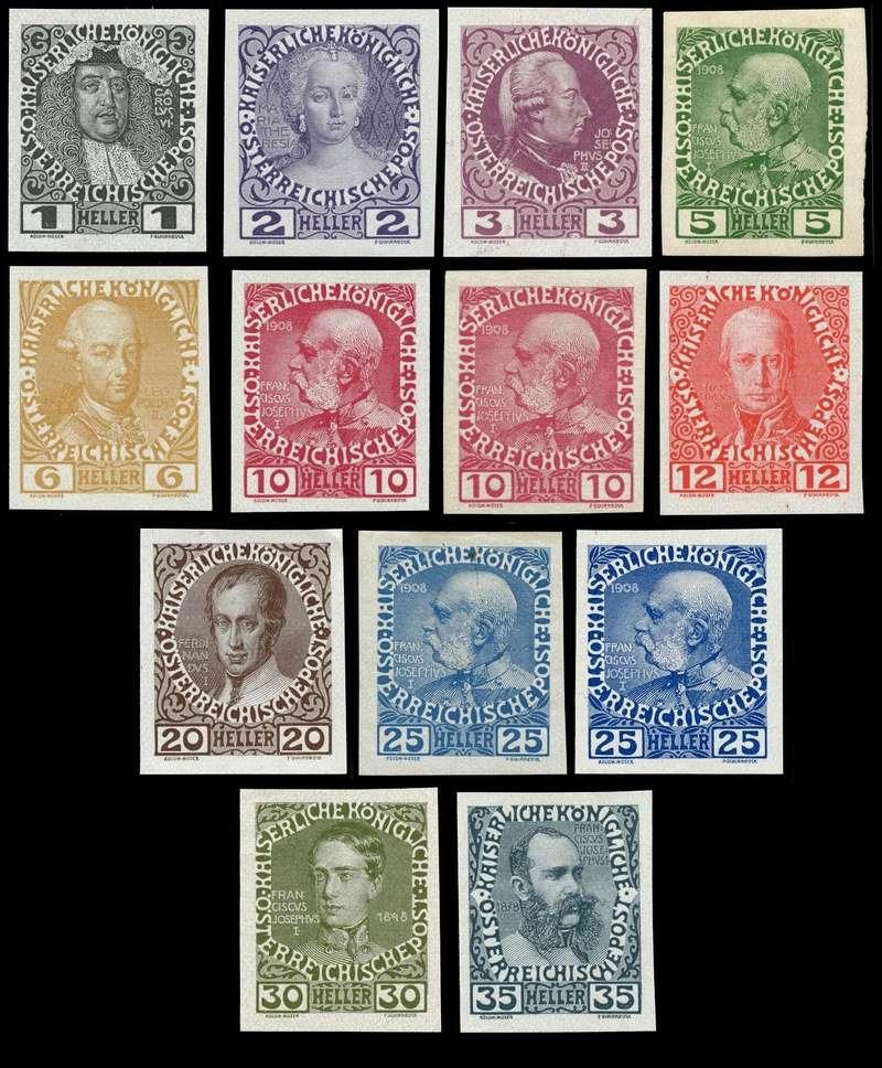 Die Freimarkenausgabe 1908 Ensemb11