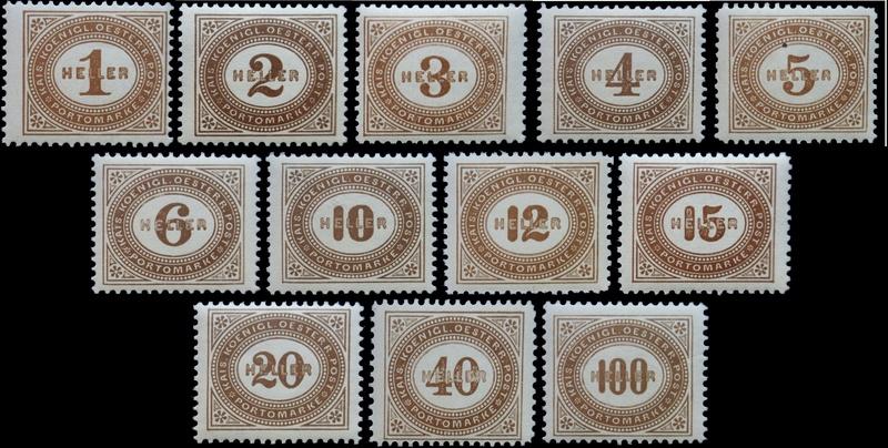 Die Portomarken des Kaiserreiches Unbena10