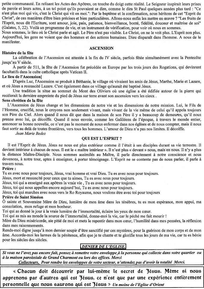 Trait d'Union du 21 mai 2017 - 1ère des communions pour 7 enfants Tu170517