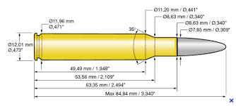 Les calibres des armes WW2 Mas10
