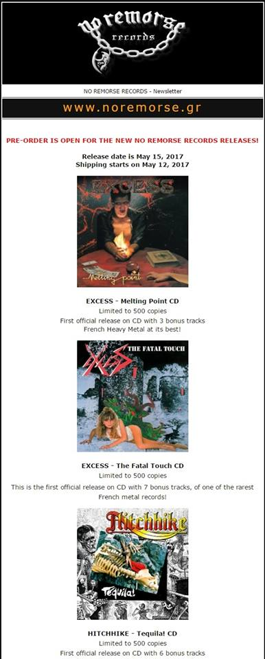 EXCESS Melting Point (1986-2016) No Remorse Records Christophe Bailet 18198710