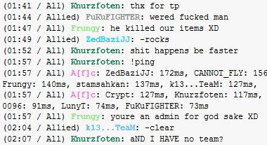 admin destroys my team's items :( Chat10