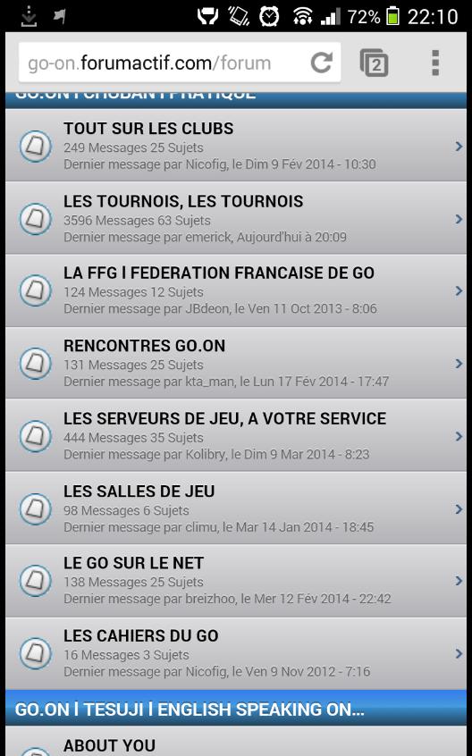 Version Mobile - icônes de sujets Screen10