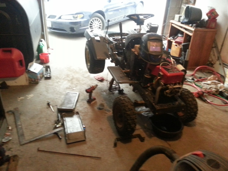 My Craftsman tractor + the build  20131210