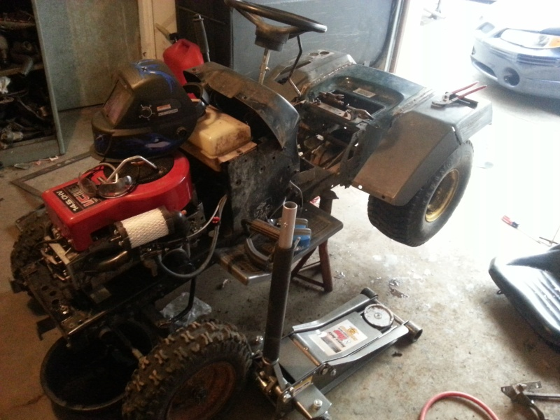 My Craftsman tractor + the build  20131211