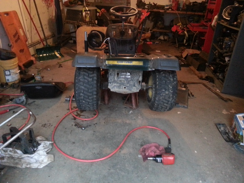 My Craftsman tractor + the build  20131212