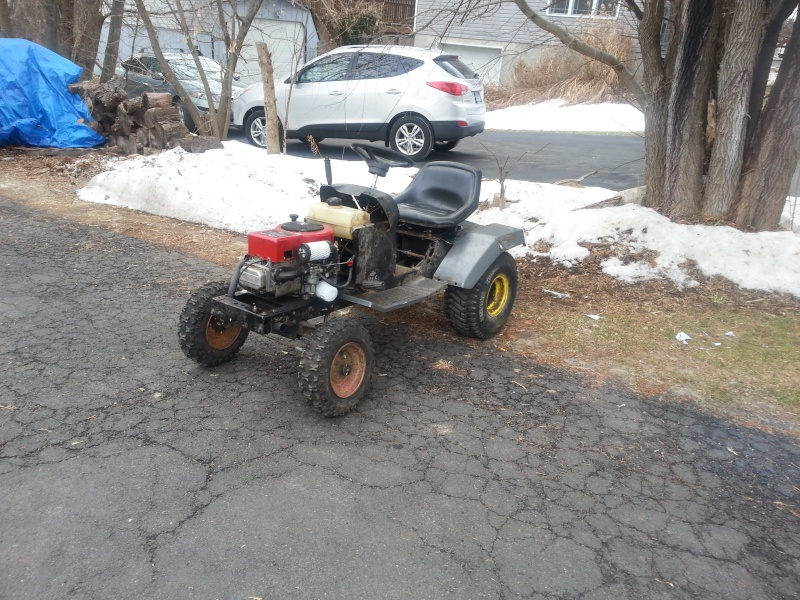 My Craftsman tractor + the build  20140110