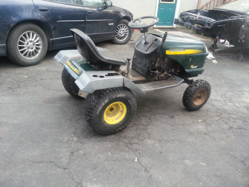 My Craftsman tractor + the build  20140111