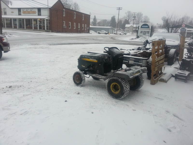 My Craftsman tractor + the build  20140112