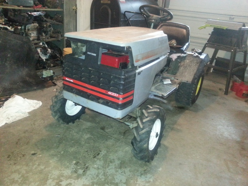 My Craftsman tractor + the build  20140310