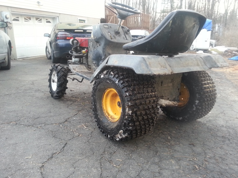 My Craftsman tractor + the build  20140314