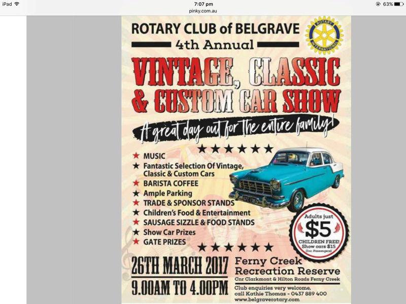 Classic car day at Ferny Creek Img_2310