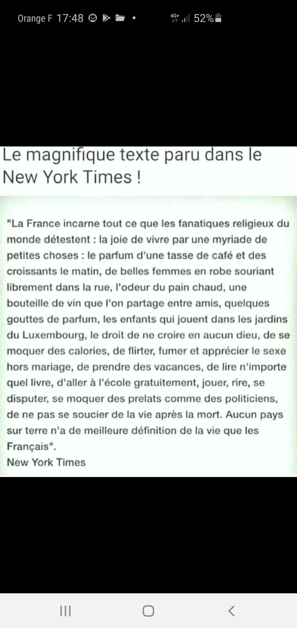 Ce que pense le New York TIMES de la France Screen29