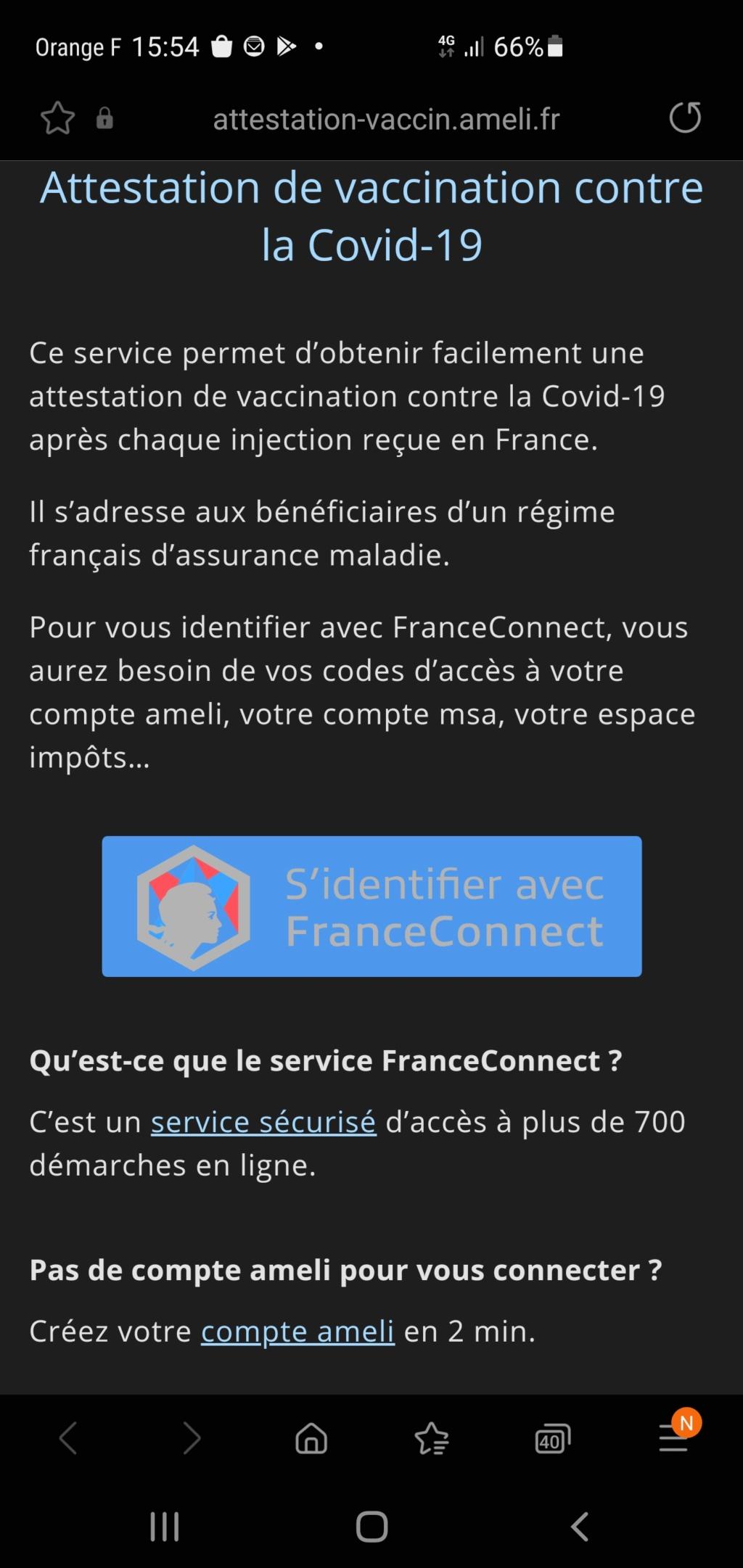 Pass sanitaire européen Screen36