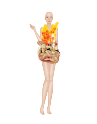 Adorable Flame Dress Flamed10