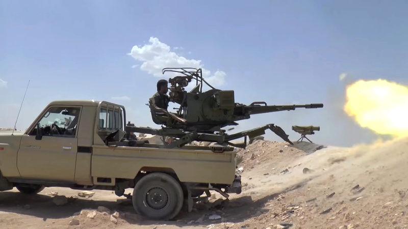 PICKUP w/ZU-23-2 [1/35° de MENG] Syrian10