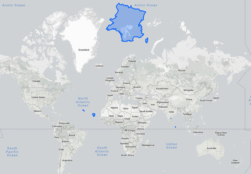 Le perception du monde faussée par la projection de Mercator. France10