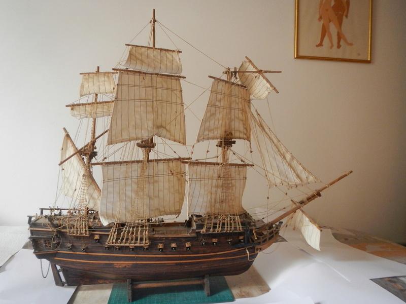 Maquette Voilier du XVIIIème siècle à réparer ! par Glénans Dscn5510