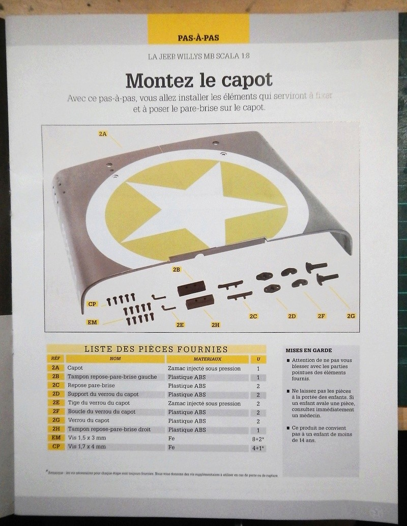 Jeep Willys - 1/8ème - Ed. Hachette - Construction par Glénans (Partie 1) - Page 2 Dscn5822