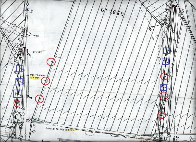 La Marie Jeanne Thonier Billing boats au 1/50 - Page 12 Hauban13