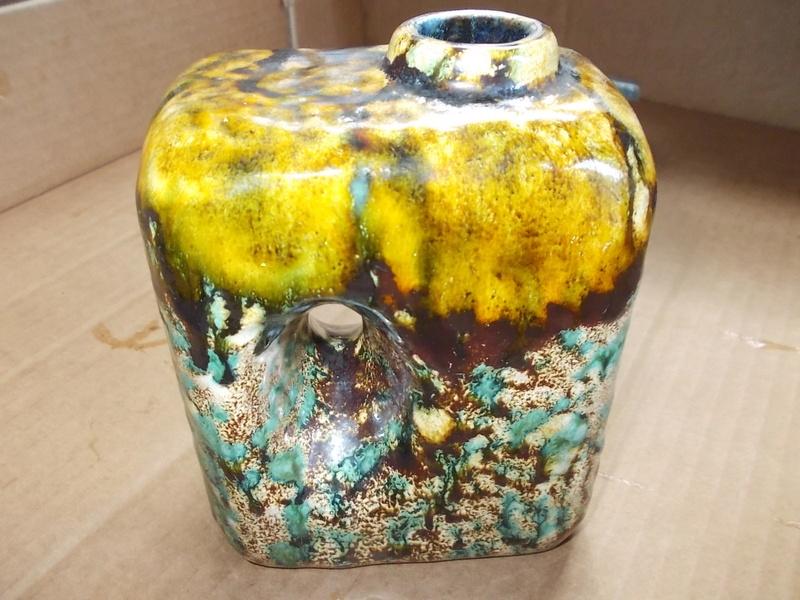 solid terracotta with drip glaze Dscn0129