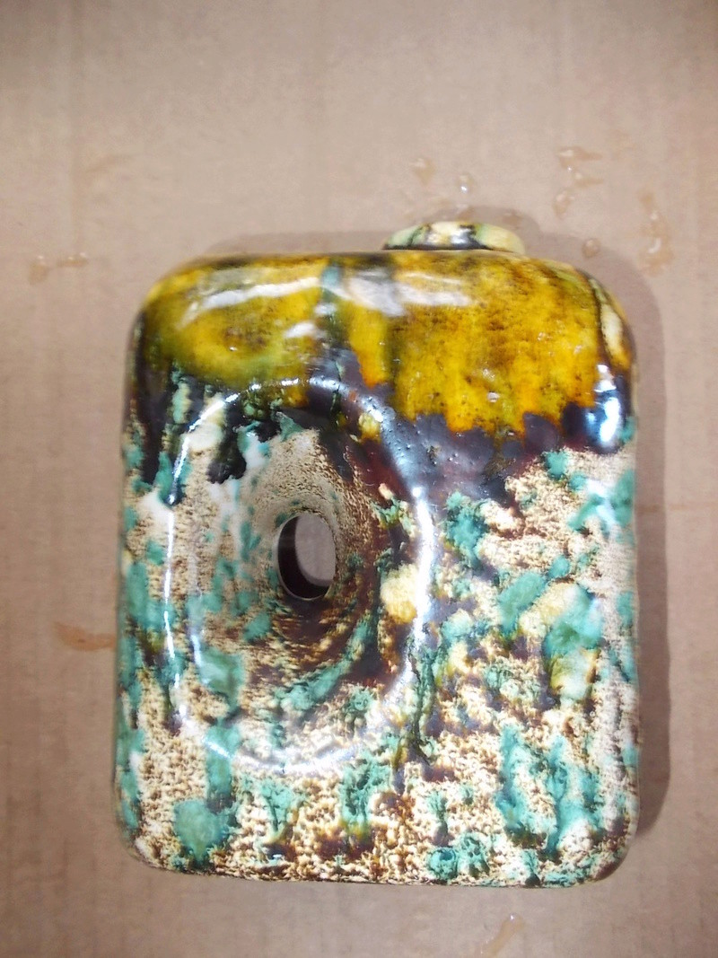 solid terracotta with drip glaze Dscn0131