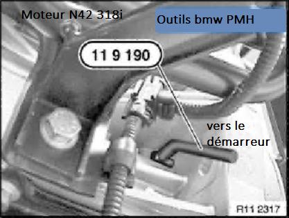 [ BMW E46 318 CI N42 an 2002 ] comment caler distribution moteur N42 11_mot10