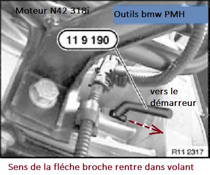 [ BMW E46 318 CI N42 an 2002 ] comment caler distribution moteur N42 11_mot11