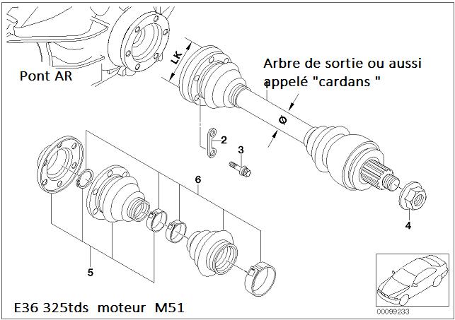[ BMW e36 325 tds M51 an 1997 ] croissillons de transmission hs 33_e3610