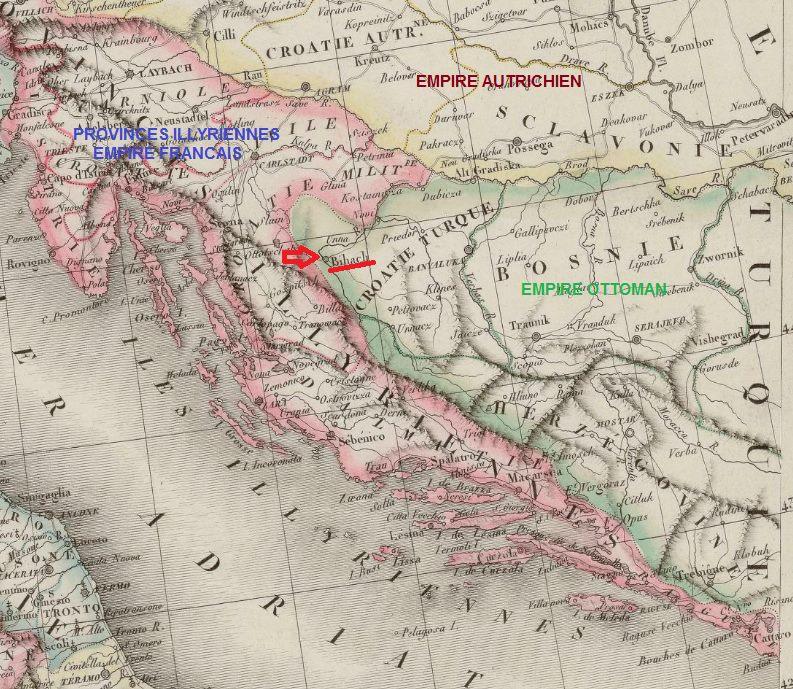 campagne de Marmont contre l'Empire Ottoman en Croatie Turque 1810 Croati10