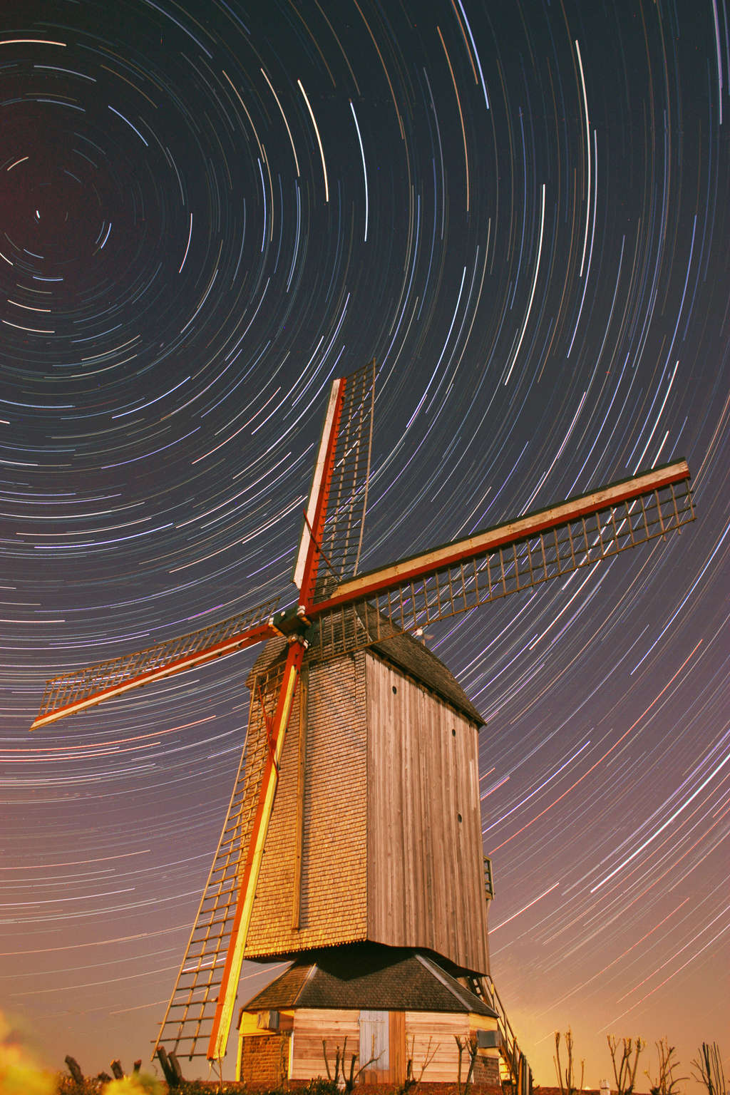 filet d'étoiles sur moulin Fily_y10