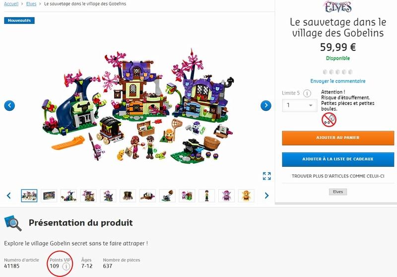 Les Tarifs officiels et Promotions LEGO® Elves 2017 Vip_po10