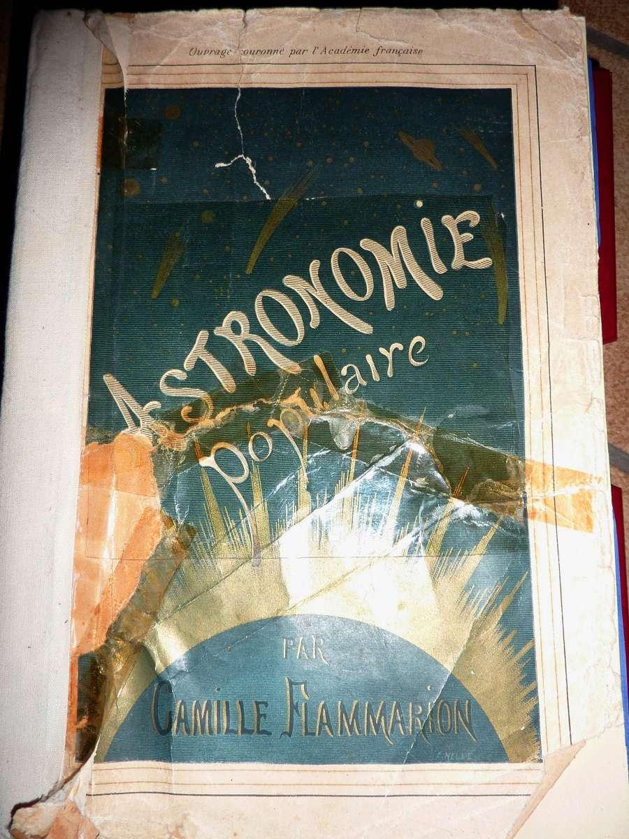 Carte du ciel et livre astronomique de 1880  6a10