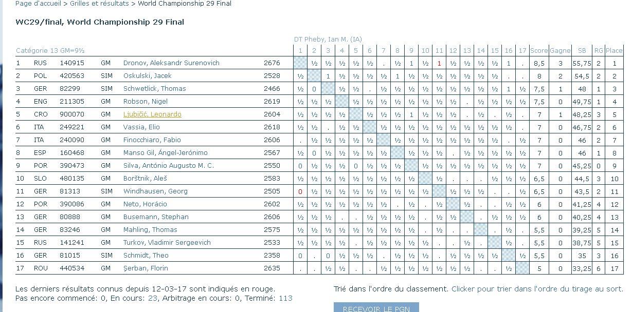 La 28ème finale du championnat du monde Dronov10