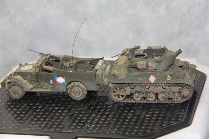 White scout car M3A1 RICM  9eme DIC -binôme de la coloniale 00413