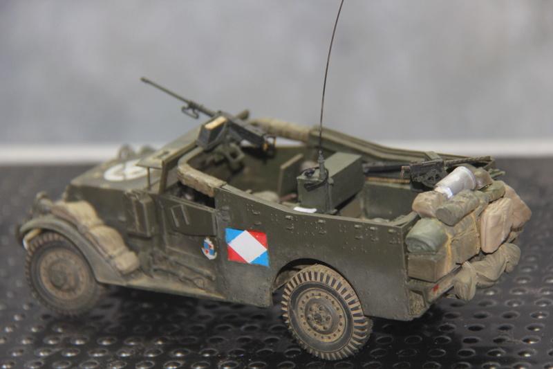 White scout car M3A1 RICM  9eme DIC -binôme de la coloniale 00511