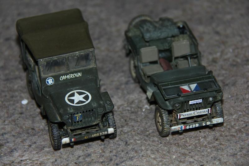 Jeep de cinéma finie et duo de petites françaises - Tamiya 1/35 00911