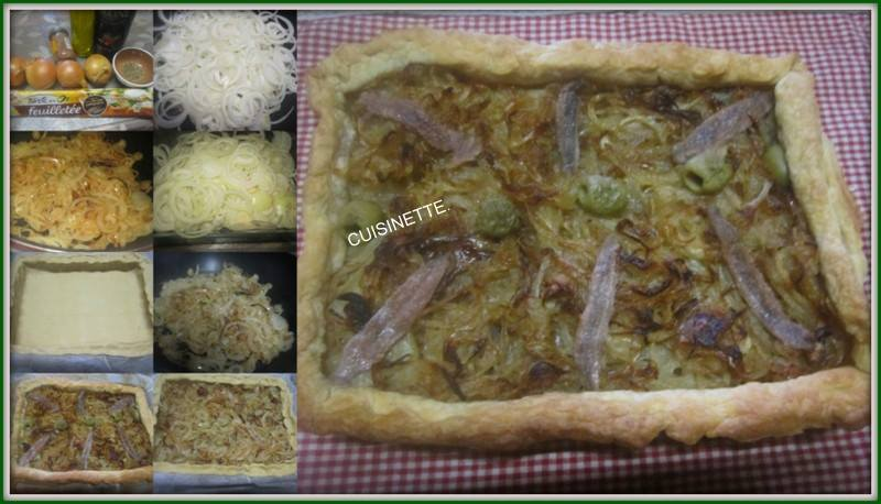 Tarte aux oignons et anchois. 16730610