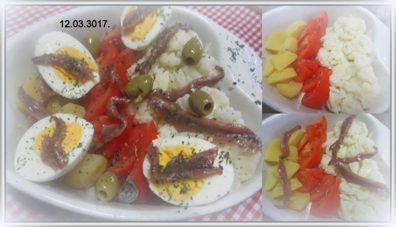 Plat entrée aux légumes et anchois. 17308810