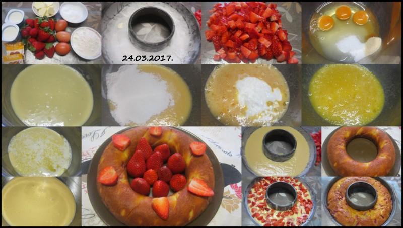 Gâteau yaourt aux fraises. Gyteau12