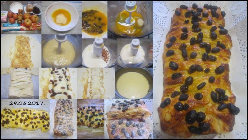 Strudel aux pommes et raisins.variante.  Gyteau14