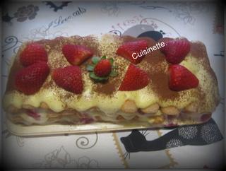 Tiramisu Mascarpone aux fraises. Img_4610